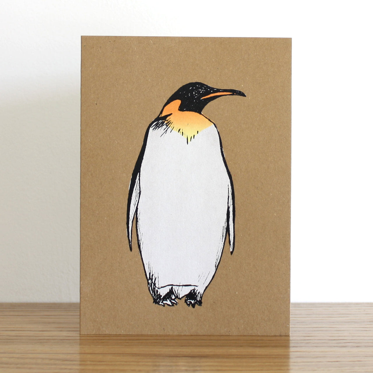 Penguin Kraft Christmas Card