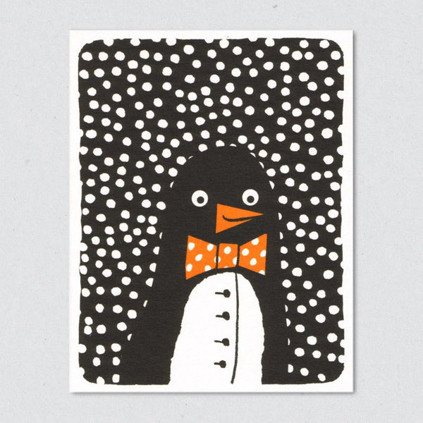 Penguin Suit Christmas Card