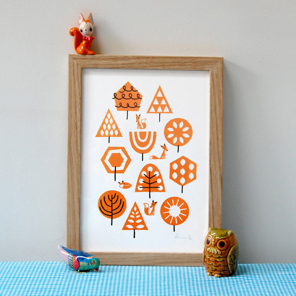 Foxy Forest Small Print