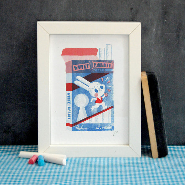 White Rabbit Chalk Print