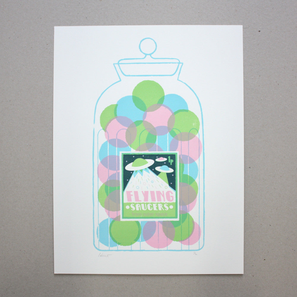 Flying Saucers Print