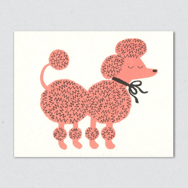 Pink Poodle card by Lisa Jones Studio