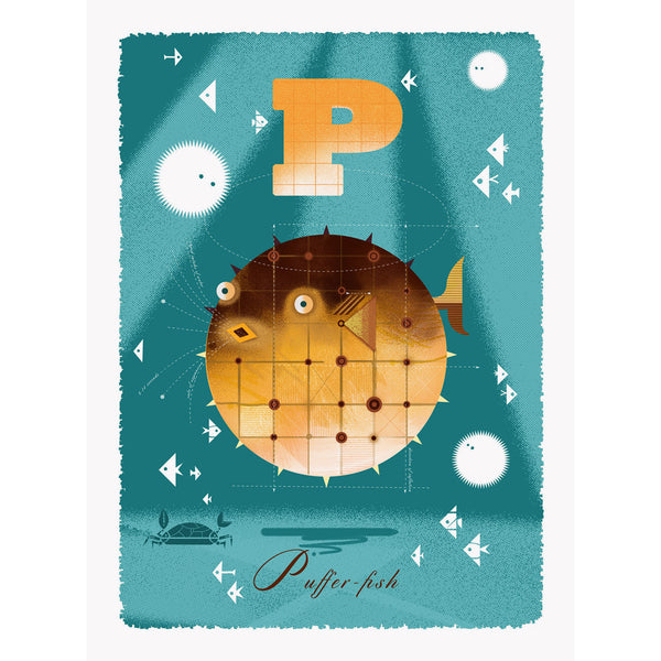 Pufferfish print by Graham Carter