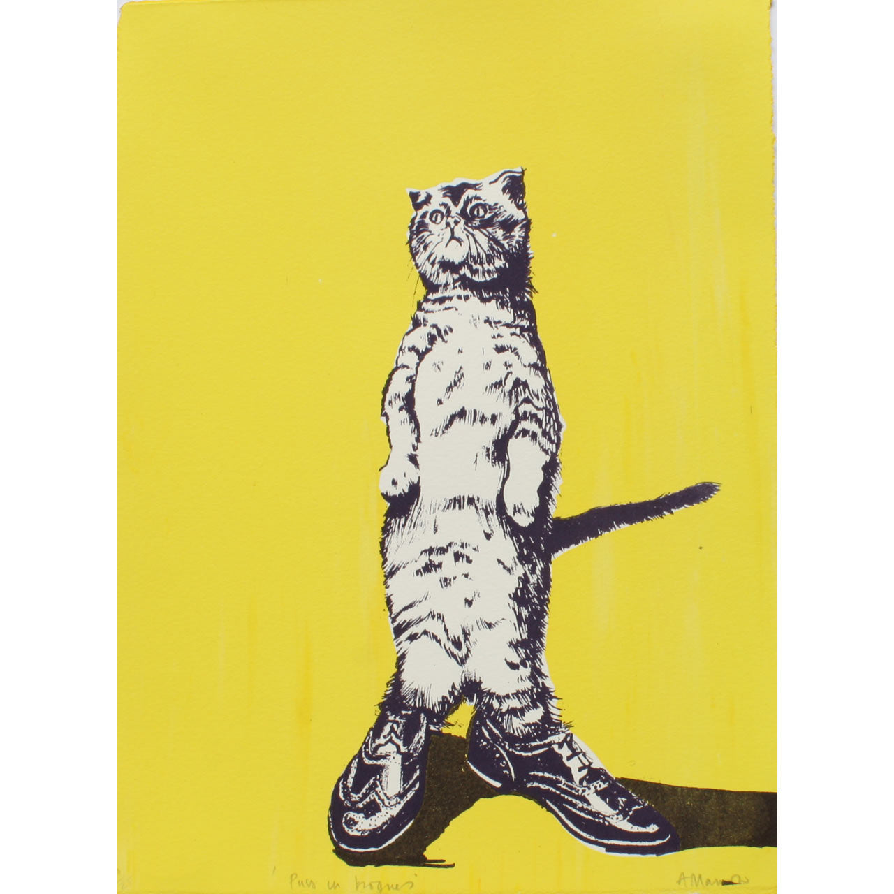 Puss in Brogues Print