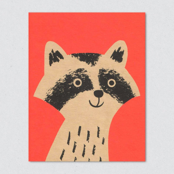 Raccoon card by Lisa Jones Studio
