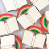 'Rainbow Book' brooch by Kate Rowland