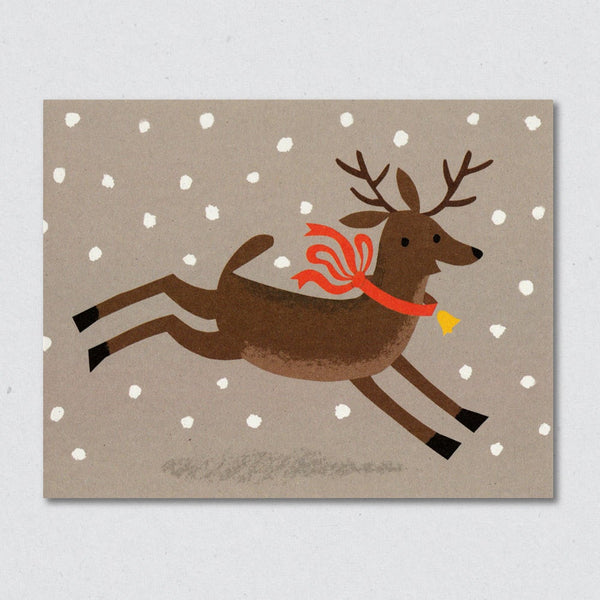 Prancer Christmas greeting card by Lisa Jones Studio