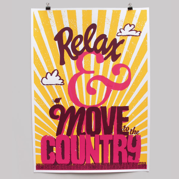 Relax yellow print by Andy Smith