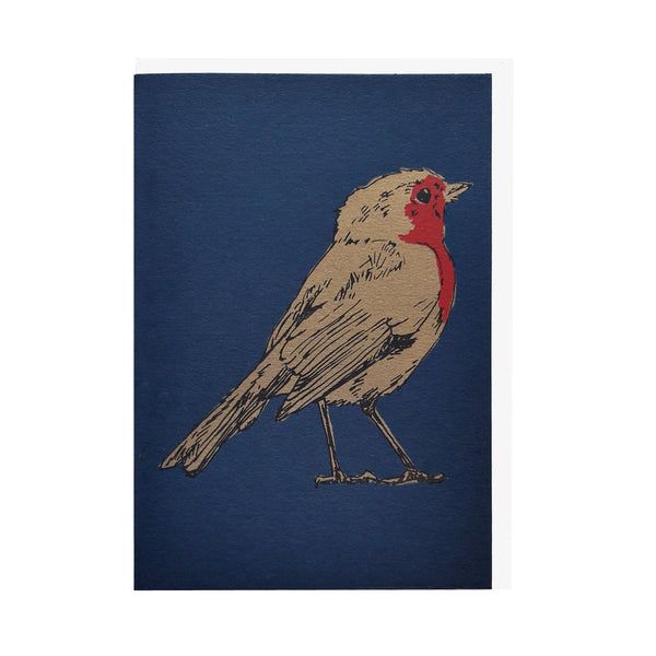 Robin Navy Blue Card