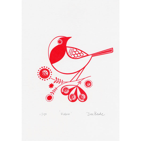 Rose Hip Robin Print