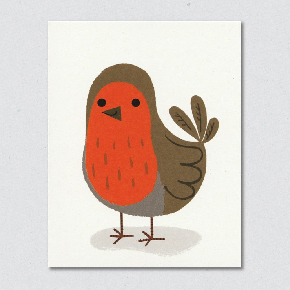 Round Robin Christmas greeting card by Lisa Jones Studio