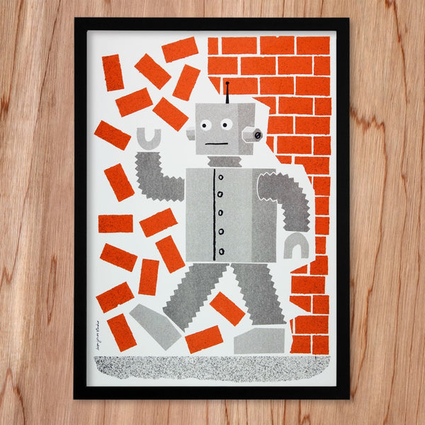 Robot print by Lisa Jones Studio