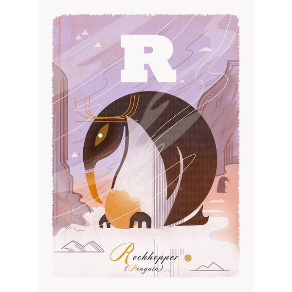 Rockhopper penguin print by Graham Carter