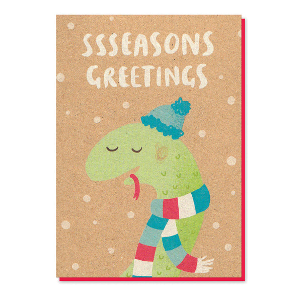 Sssseasons Greetings Card