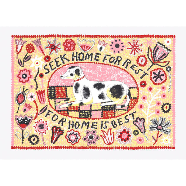 Seek Home for Rest print by Alice Pattullo, Soma Gallery, Bristol