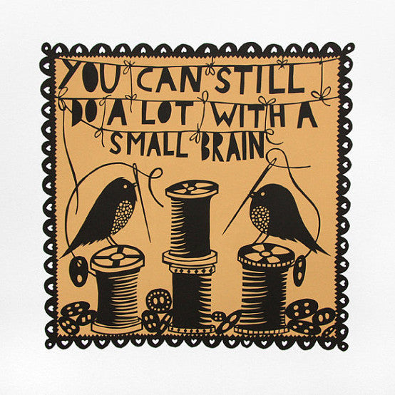 Small Brain print by Rob Ryan