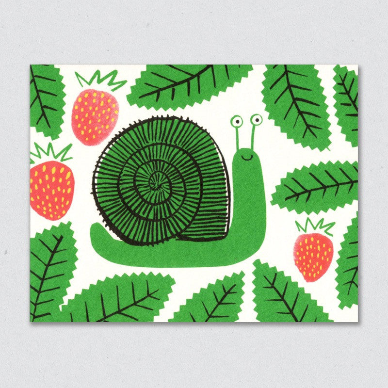 Snail card by Lisa Jones Studio