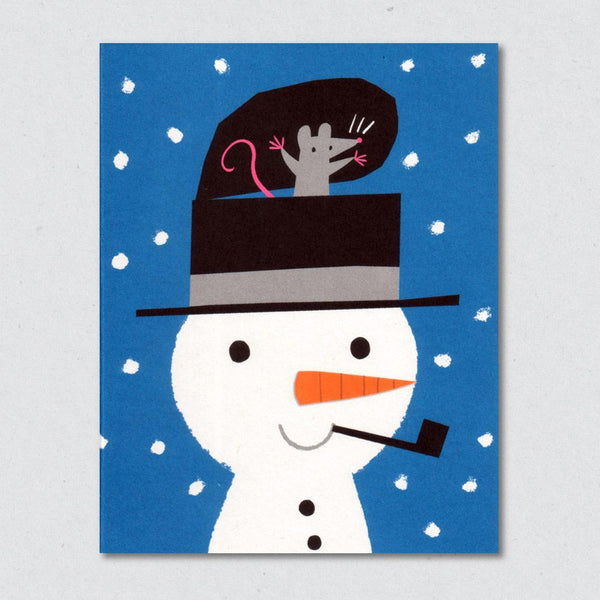 Snowman Surprise Christmas Card