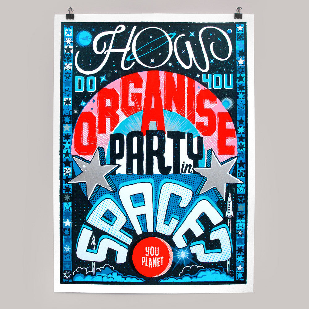 Party in Space print by Andy Smith
