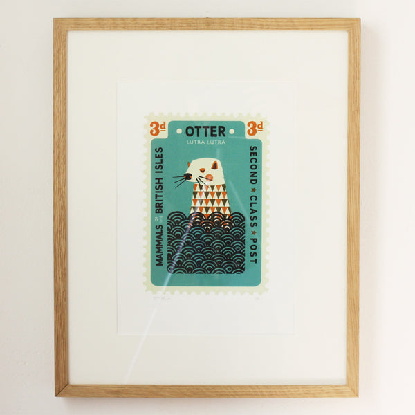 Framed Otter Stamp