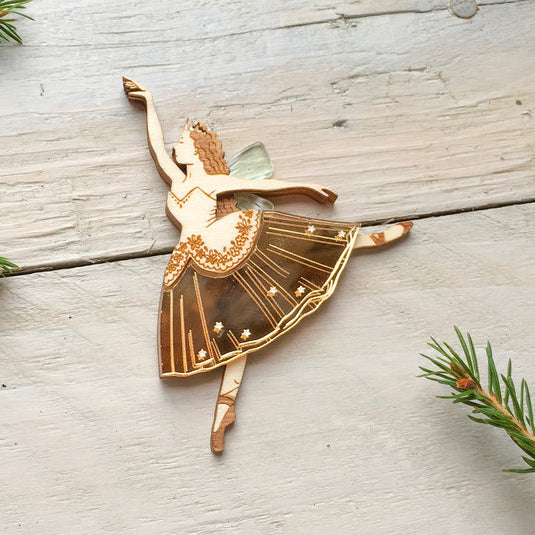 'Sugar Plum Fairy' Christmas brooch by Kate Rowland.