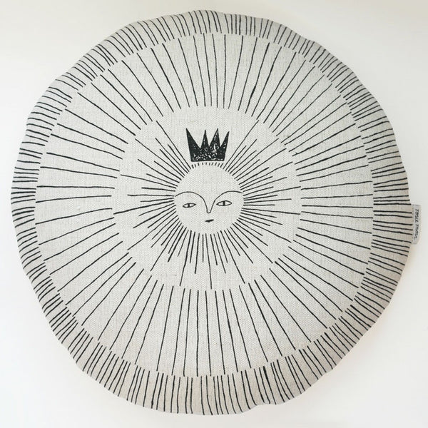 Sun King cushion by Rosie Moss