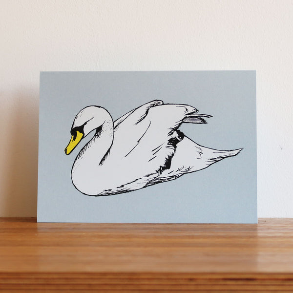 Swan Metallic Blue Card