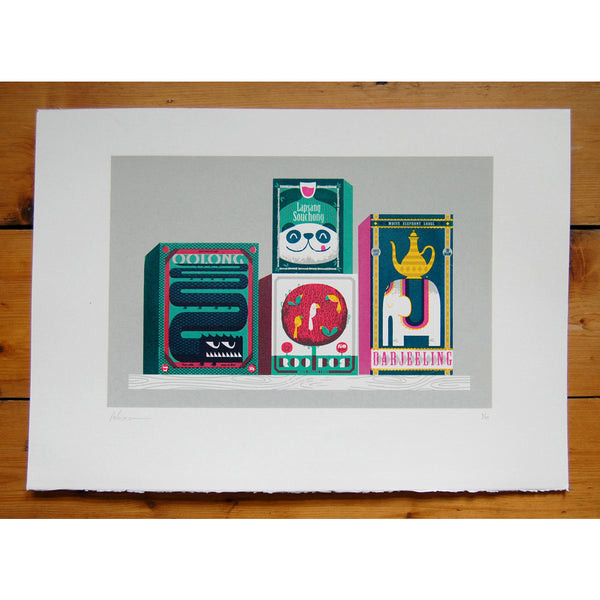 Tea Box Zoo Print