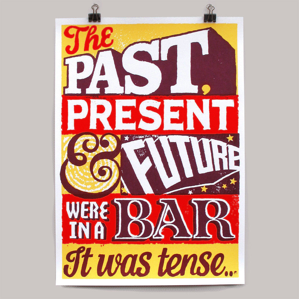 Past Present Future (yellow) print by Andy Smith