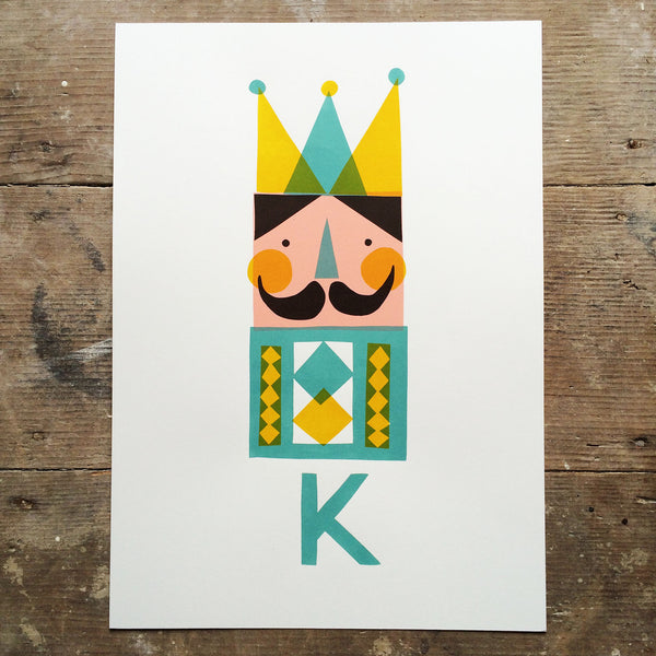 K for King print by Frost & Kin