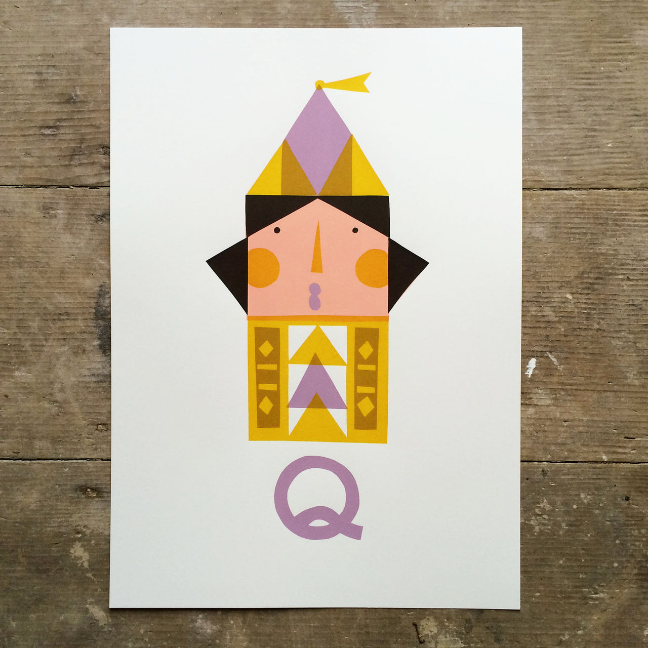 Q for Queen print by Frost & Kin