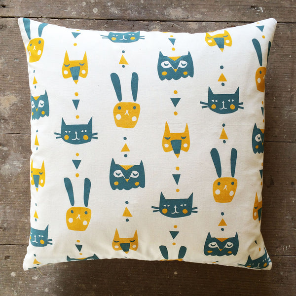 Animal Faces cushion by Frost & Kin