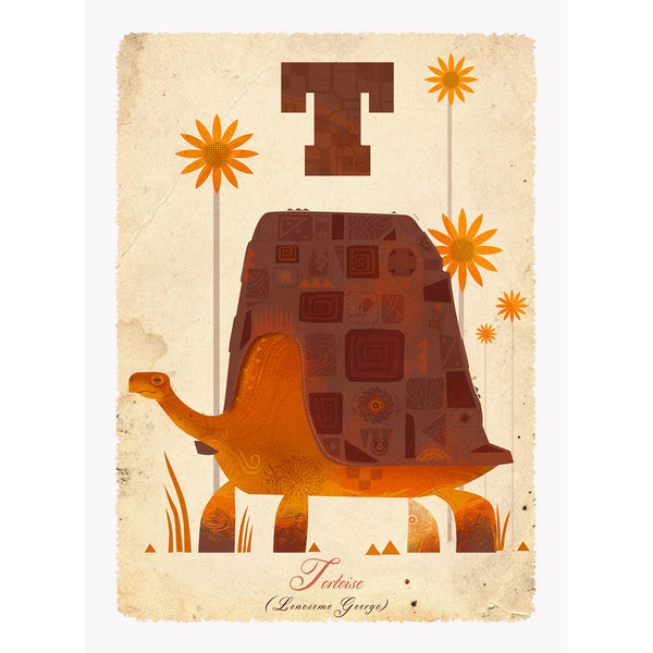 Tortoise print by Graham Carter