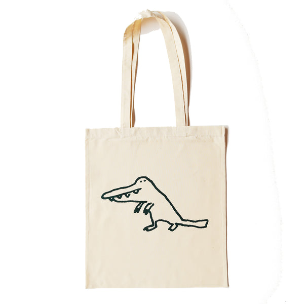 Crocodile Walk Natural Tote