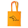 Crocodile Walk Orange Tote