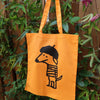 Beret Dog Orange Tote