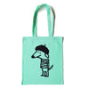 Beret Dog Mint Green Tote