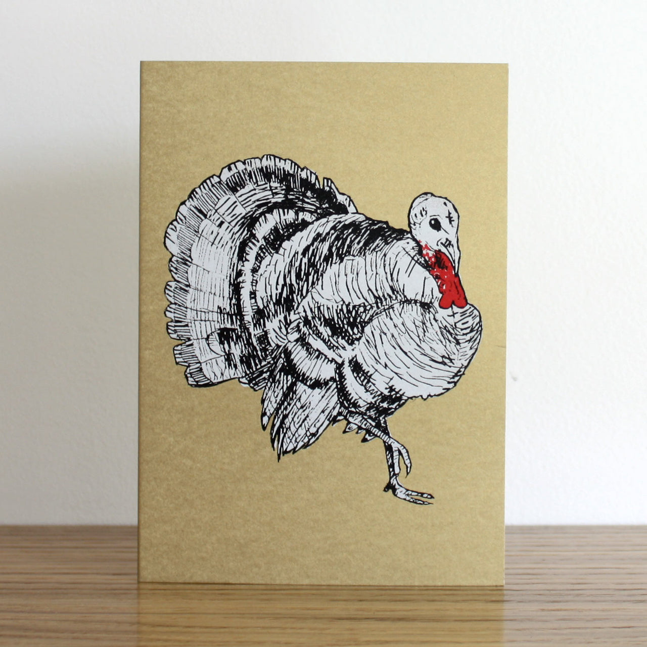Turkey Gold Christmas Card