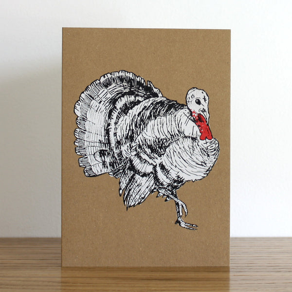 Turkey Kraft Christmas Card