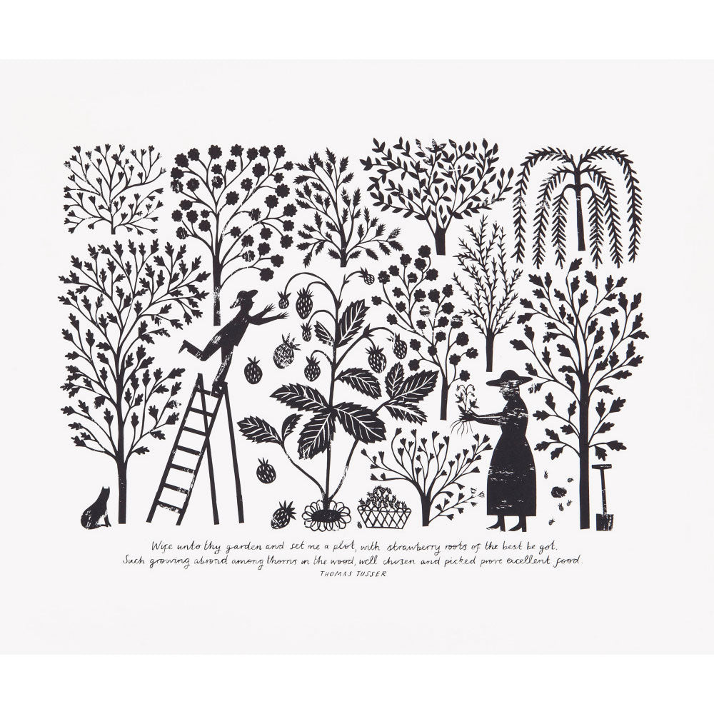 Tusser, Strawberry Picking Print