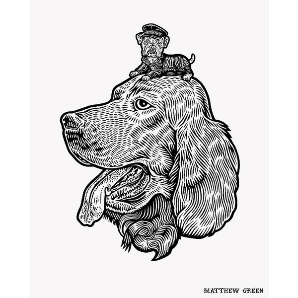 Two Dogs Print