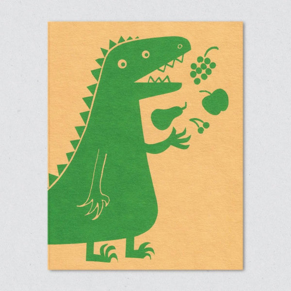 Vegesaurus card by Lisa Jones Studio