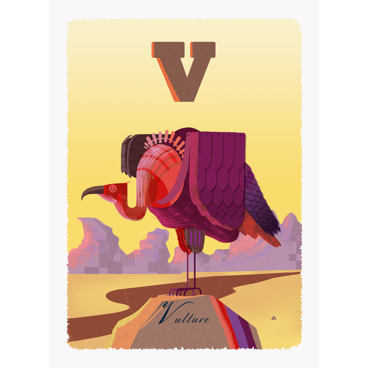 Vulture print by Graham Carter