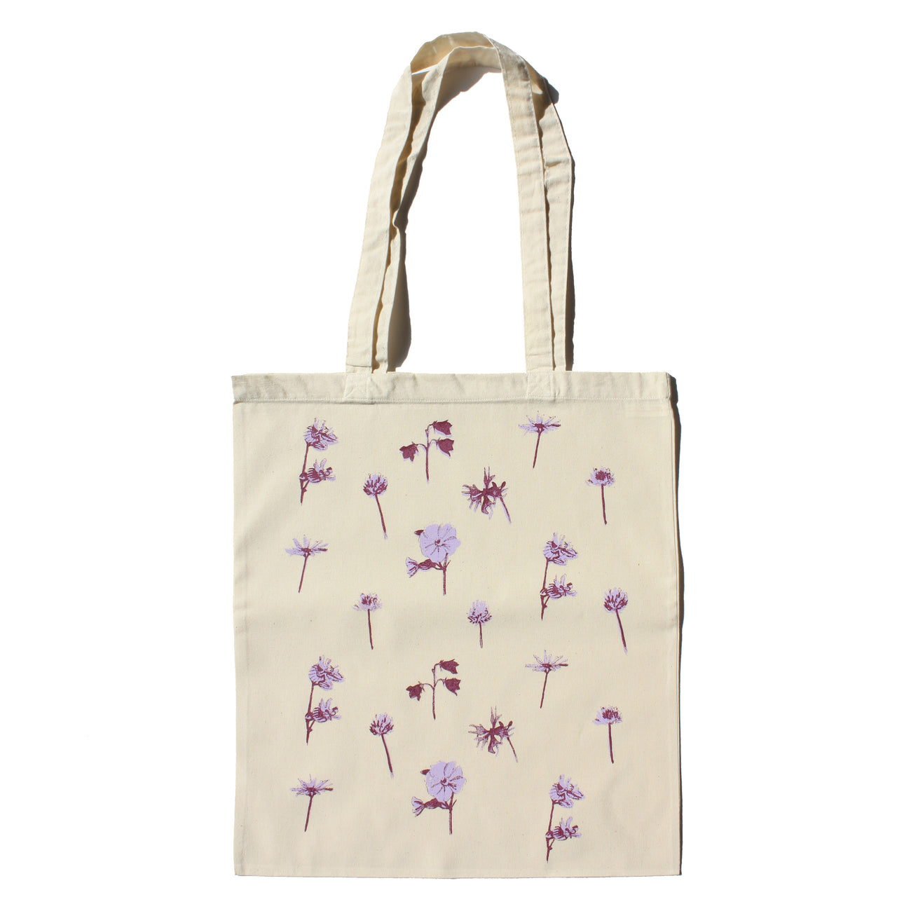 Wild Flowers Purple Tote Bag
