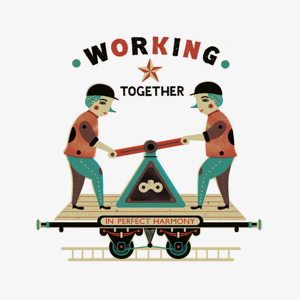 Working Together Print