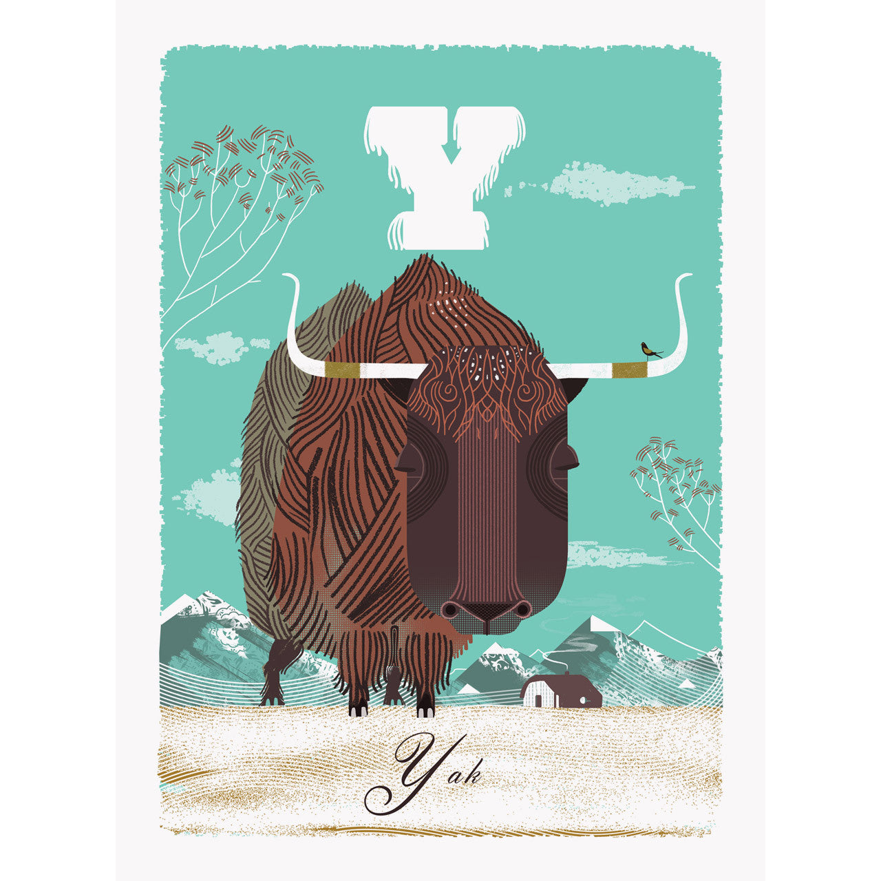 Yak print by Graham Carter