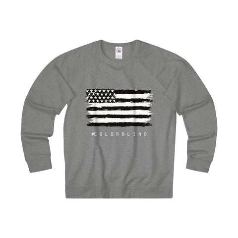 BLACK & WHITE AMERICAN FLAG - French Terry Crew