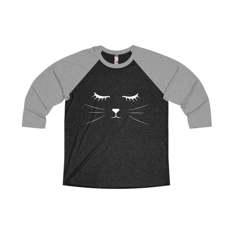 CAT FACE - Unisex Raglan
