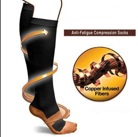 COPPER-INFUSED COMPRESSION KNEE-SOCKS