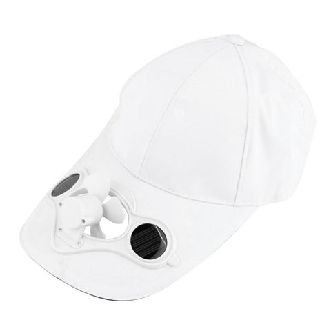 SOLAR-POWERED FAN CAP
